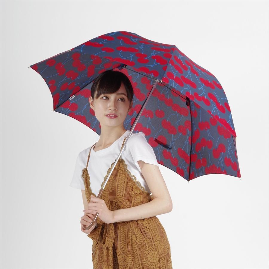 【公式】 ニフティカラーズ 傘  さくらんぼ チェリー 大柄 レディース 長傘 ドーム型 晴雨兼用 UV 防水 58cm 大きめ 紫外線防止|niftycolors|12