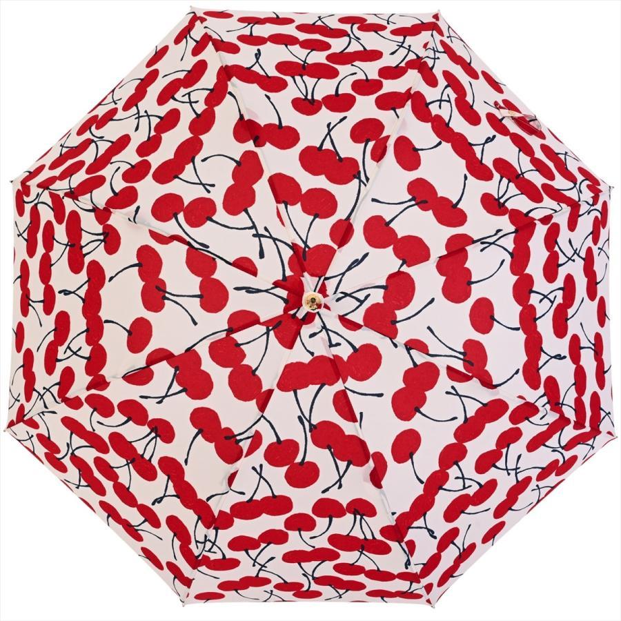 【公式】 ニフティカラーズ 傘  さくらんぼ チェリー 大柄 レディース 長傘 ドーム型 晴雨兼用 UV 防水 58cm 大きめ 紫外線防止|niftycolors|03