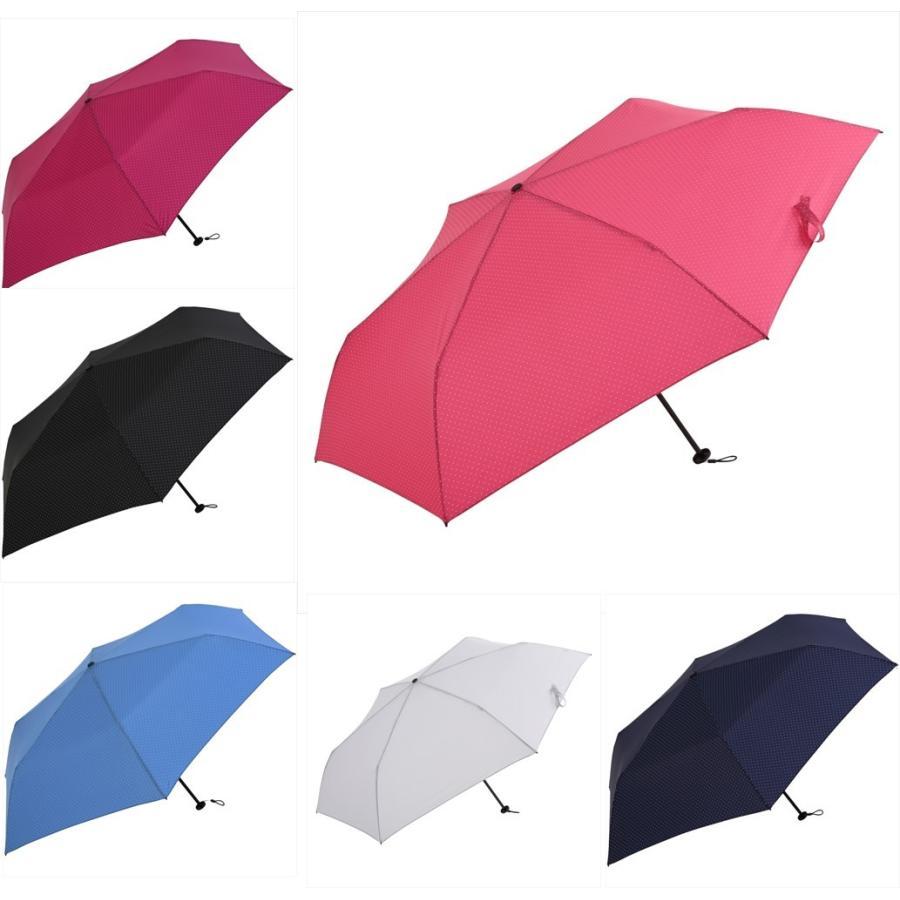 【公式】 ニフティカラーズ 傘  ドット レディース 晴雨兼用 大きめ 55cm 折りたたみ 軽量 ギフト カーボン UV 撥水 折傘 紫外線防止|niftycolors