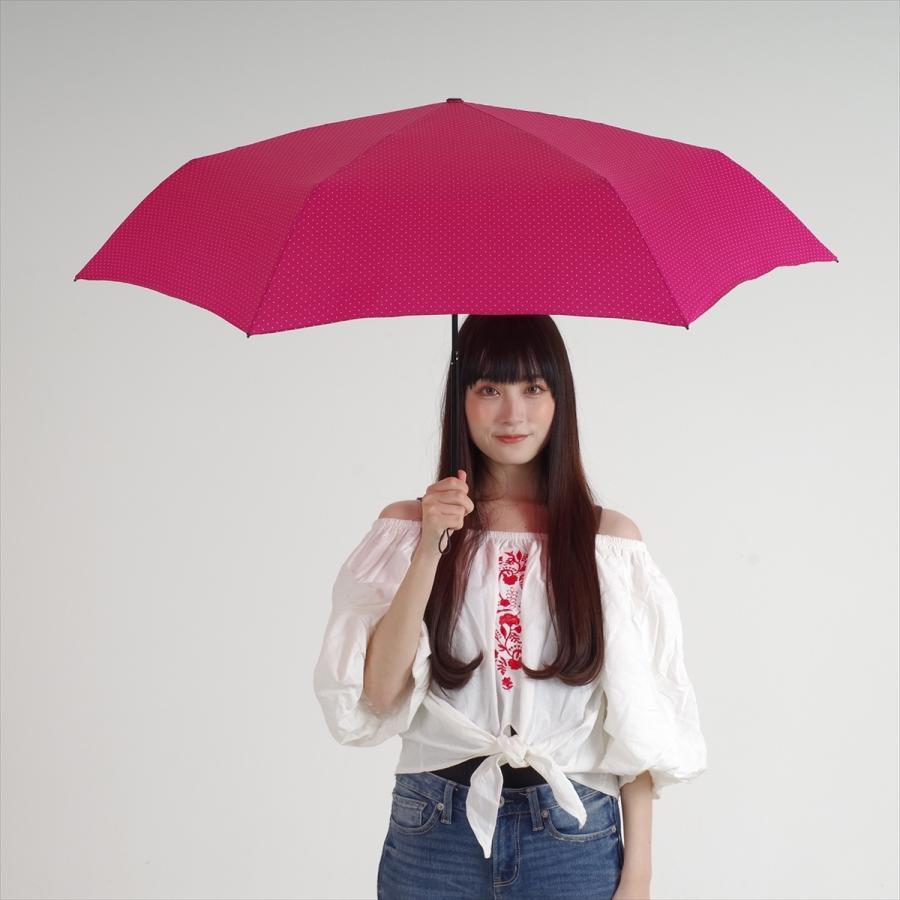 【公式】 ニフティカラーズ 傘  ドット レディース 晴雨兼用 大きめ 55cm 折りたたみ 軽量 ギフト カーボン UV 撥水 折傘 紫外線防止|niftycolors|14