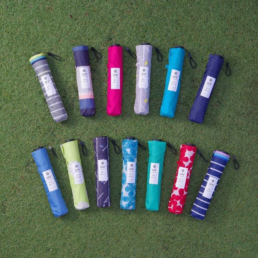 【公式】 ニフティカラーズ 傘  ドット レディース 晴雨兼用 大きめ 55cm 折りたたみ 軽量 ギフト カーボン UV 撥水 折傘 紫外線防止|niftycolors|16