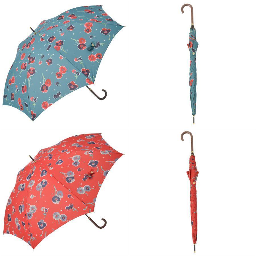 【公式】 ニフティカラーズ 傘 新作 花柄 パンジー レディース ジャンプ 長傘 晴雨兼用 スマート UV 防水 60cm 大きめ 紫外線防止|niftycolors