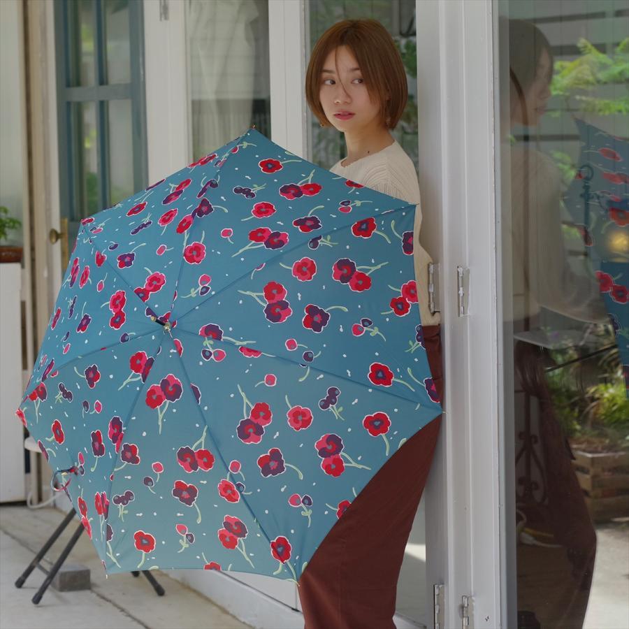 【公式】 ニフティカラーズ 傘 新作 花柄 パンジー レディース ジャンプ 長傘 晴雨兼用 スマート UV 防水 60cm 大きめ 紫外線防止|niftycolors|12