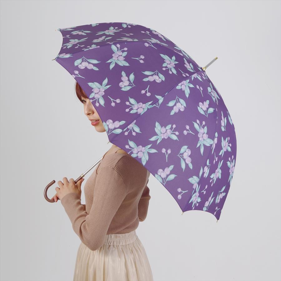 【公式】 ニフティカラーズ 傘 ブルーベリー レディース 長傘 ドーム型 晴雨兼用 UV 防水 58cm 大きめ 紫外線防止|niftycolors|13