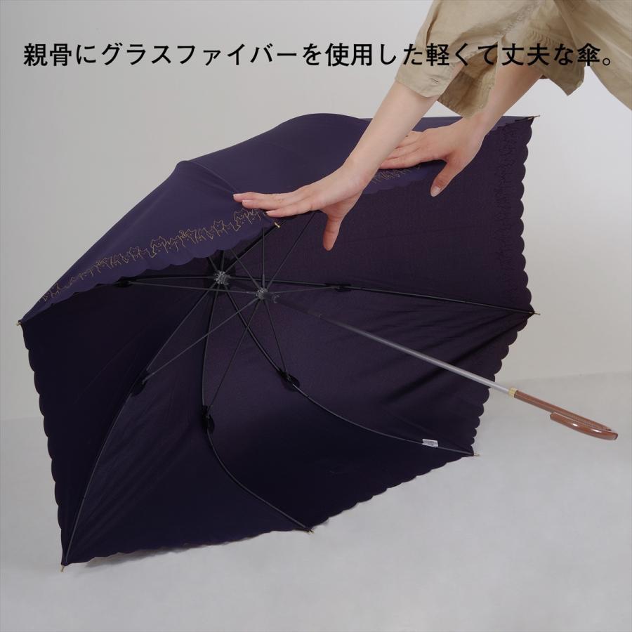 【公式】 ニフティカラーズ 傘 ブルーベリー レディース 長傘 ドーム型 晴雨兼用 UV 防水 58cm 大きめ 紫外線防止|niftycolors|15