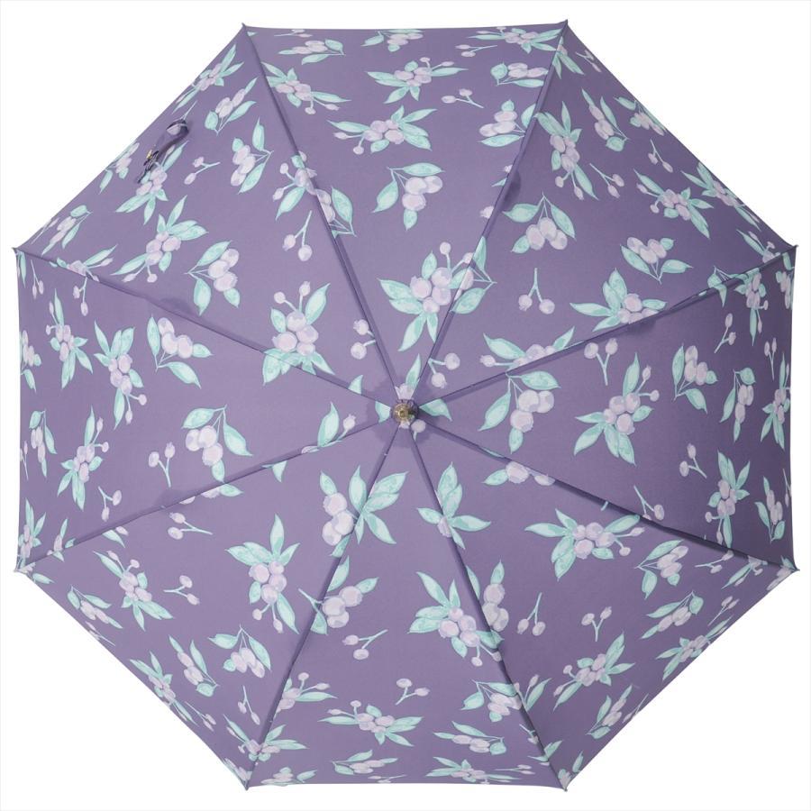 【公式】 ニフティカラーズ 傘 ブルーベリー レディース 長傘 ドーム型 晴雨兼用 UV 防水 58cm 大きめ 紫外線防止|niftycolors|05