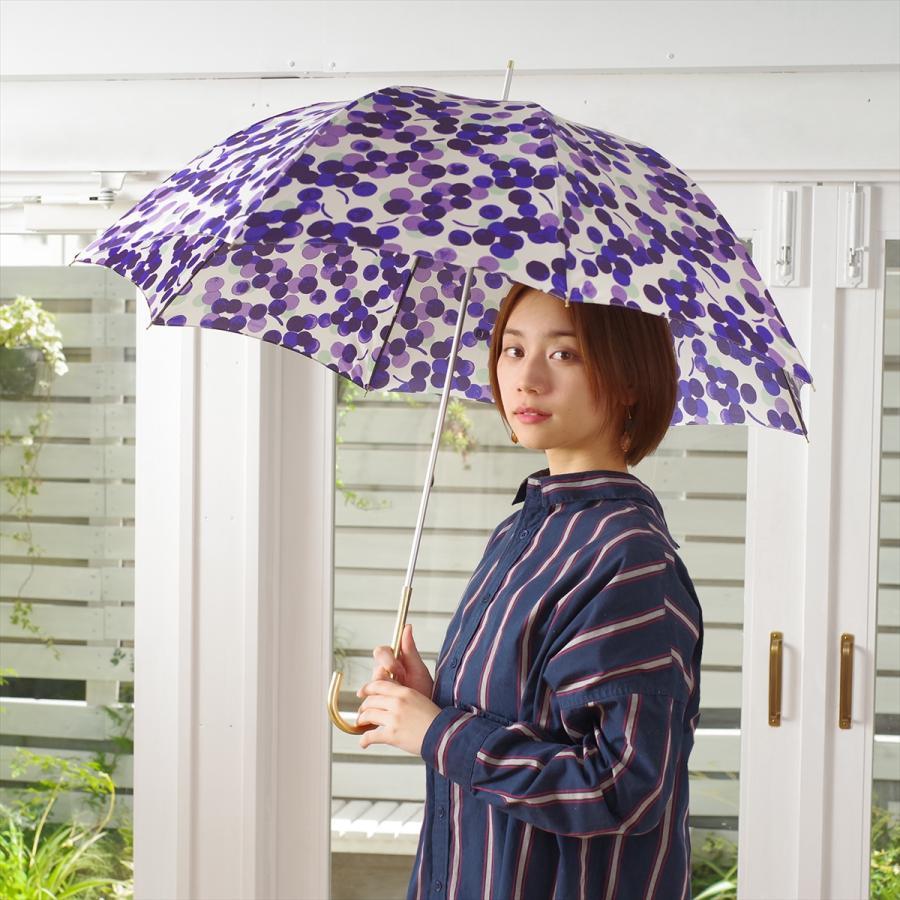 【公式】 ニフティカラーズ 傘 新作 グレープ ぶどう レディース 長傘 ドーム型 晴雨兼用 UV 防水 58cm 大きめ 紫外線防止 紺 赤|niftycolors|13