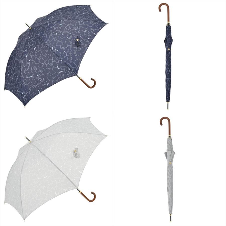 傘 雨傘 レディース 長傘 晴雨兼用 ジャンプ 猫 ネコ ニフティカラーズ|niftycolors