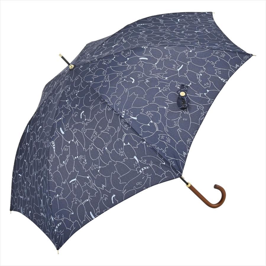 傘 雨傘 レディース 長傘 晴雨兼用 ジャンプ 猫 ネコ ニフティカラーズ|niftycolors|13