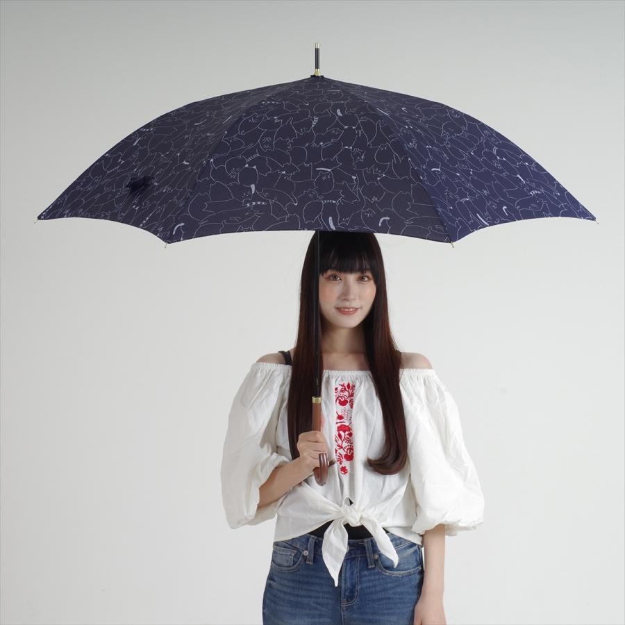 傘 雨傘 レディース 長傘 晴雨兼用 ジャンプ 猫 ネコ ニフティカラーズ|niftycolors|11