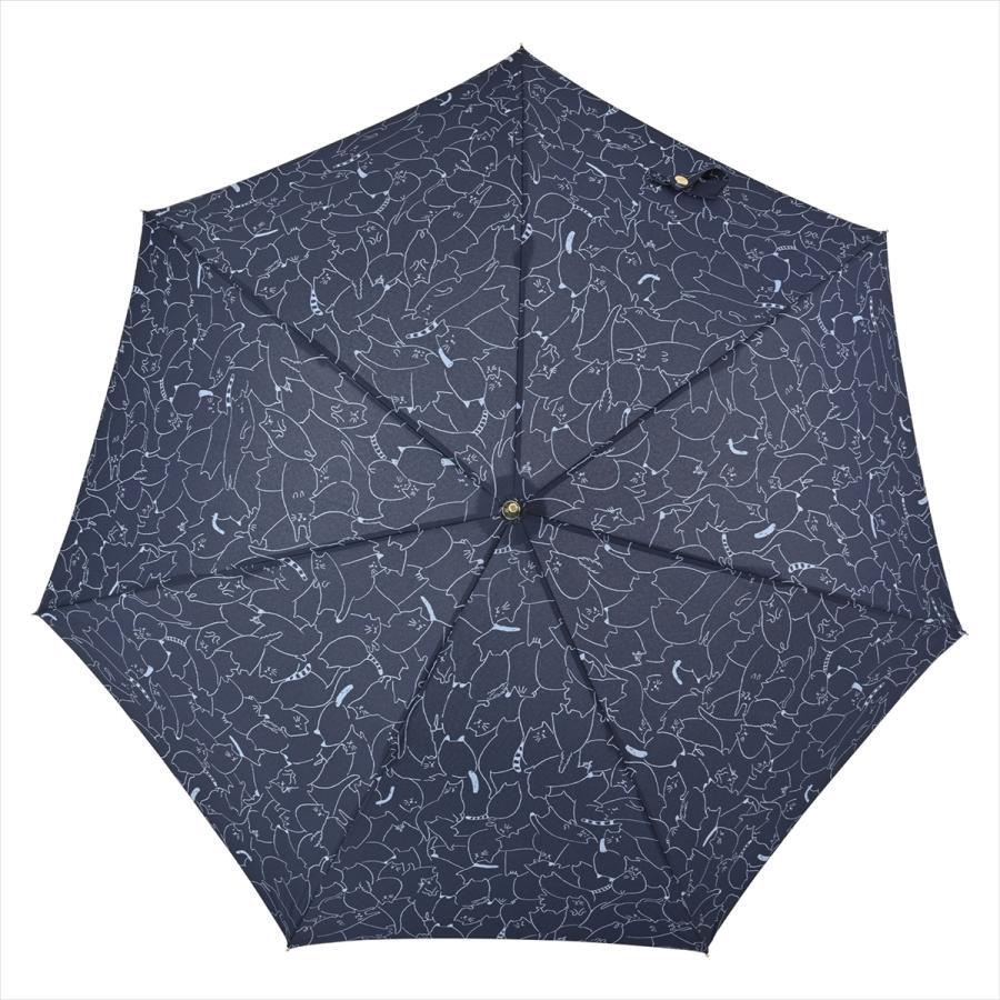 傘 雨傘 レディース 長傘 晴雨兼用 ジャンプ 猫 ネコ ニフティカラーズ|niftycolors|04