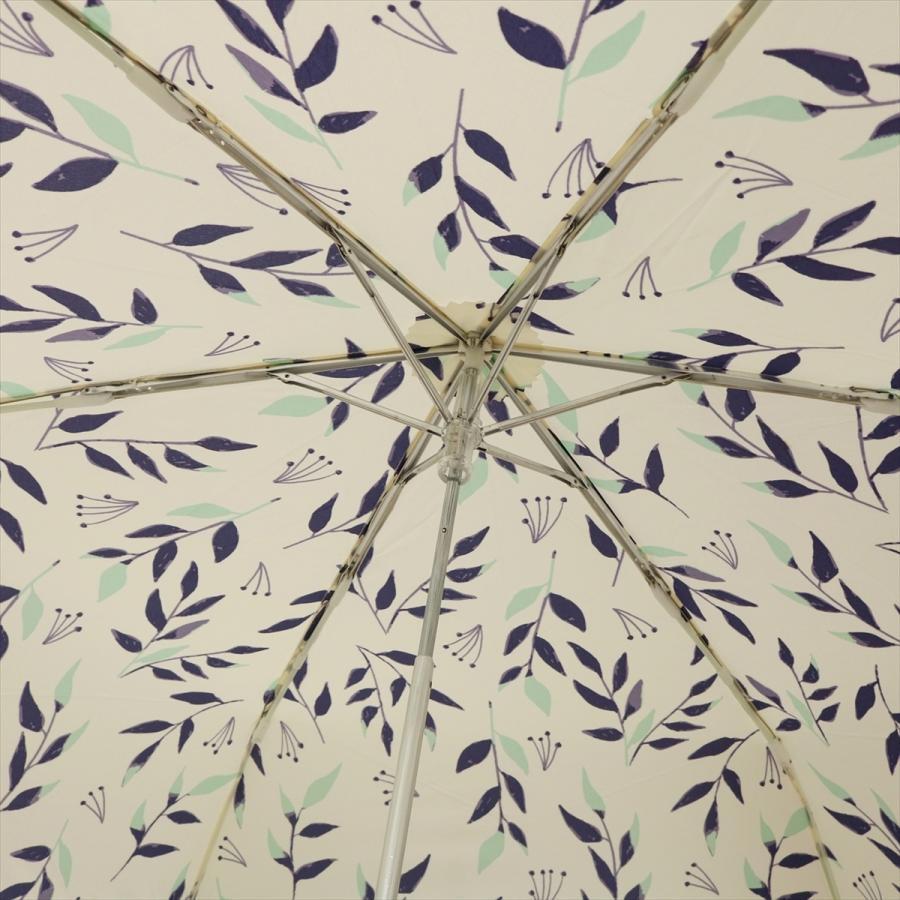 傘 雨傘 レディース 折りたたみ傘 晴雨兼用 リーフ ナチュラル ボタニカル ニフティカラーズ|niftycolors|09