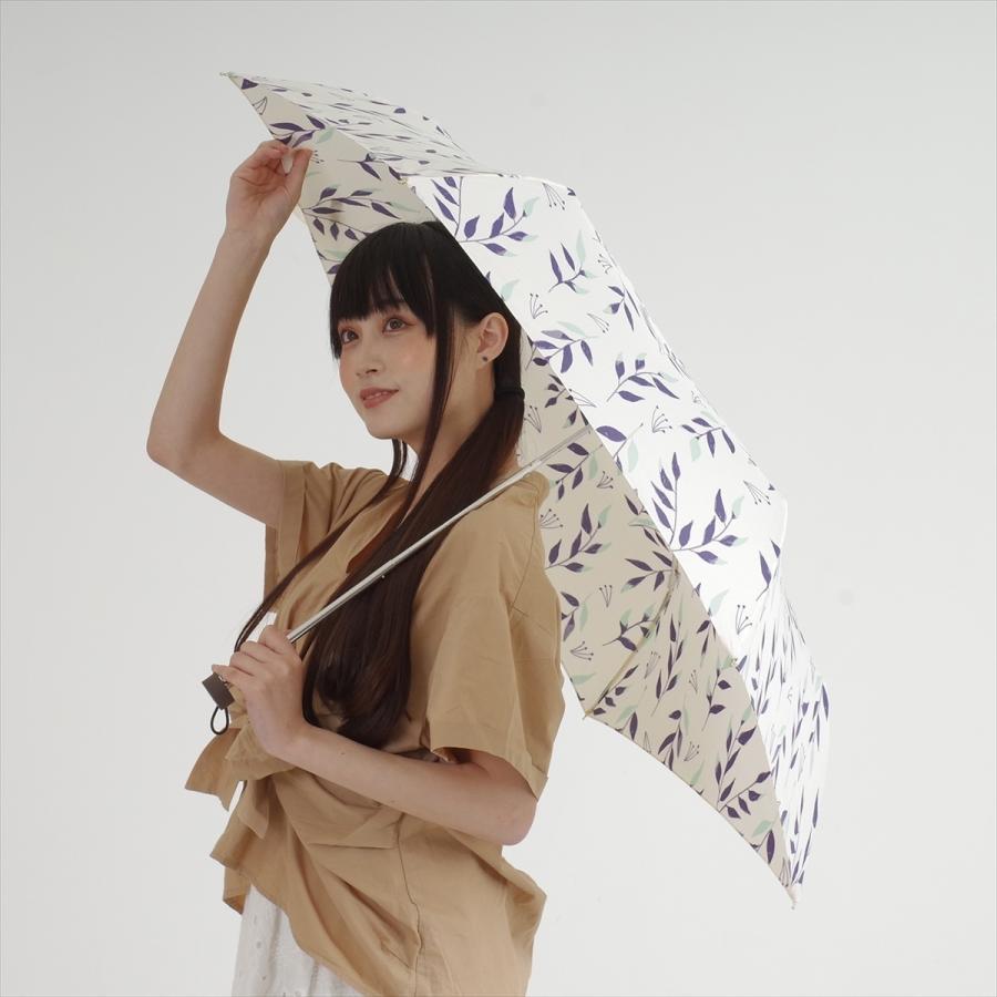 傘 雨傘 レディース 折りたたみ傘 晴雨兼用 リーフ ナチュラル ボタニカル ニフティカラーズ|niftycolors|10