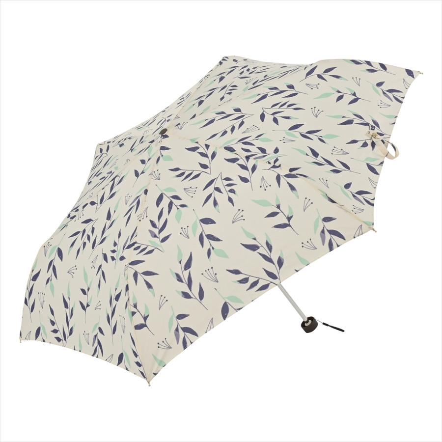 傘 雨傘 レディース 折りたたみ傘 晴雨兼用 リーフ ナチュラル ボタニカル ニフティカラーズ|niftycolors|03