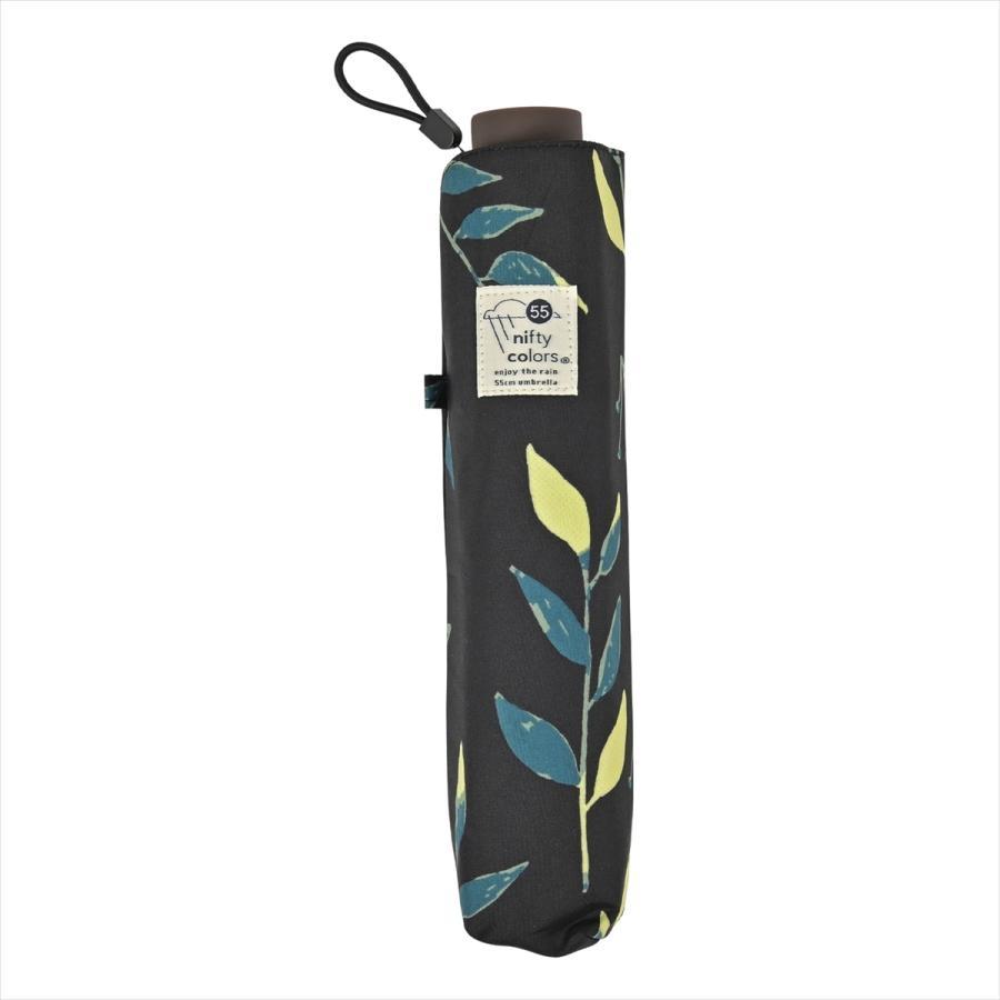 傘 雨傘 レディース 折りたたみ傘 晴雨兼用 リーフ ナチュラル ボタニカル ニフティカラーズ|niftycolors|04