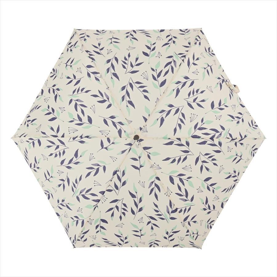 傘 雨傘 レディース 折りたたみ傘 晴雨兼用 リーフ ナチュラル ボタニカル ニフティカラーズ|niftycolors|13