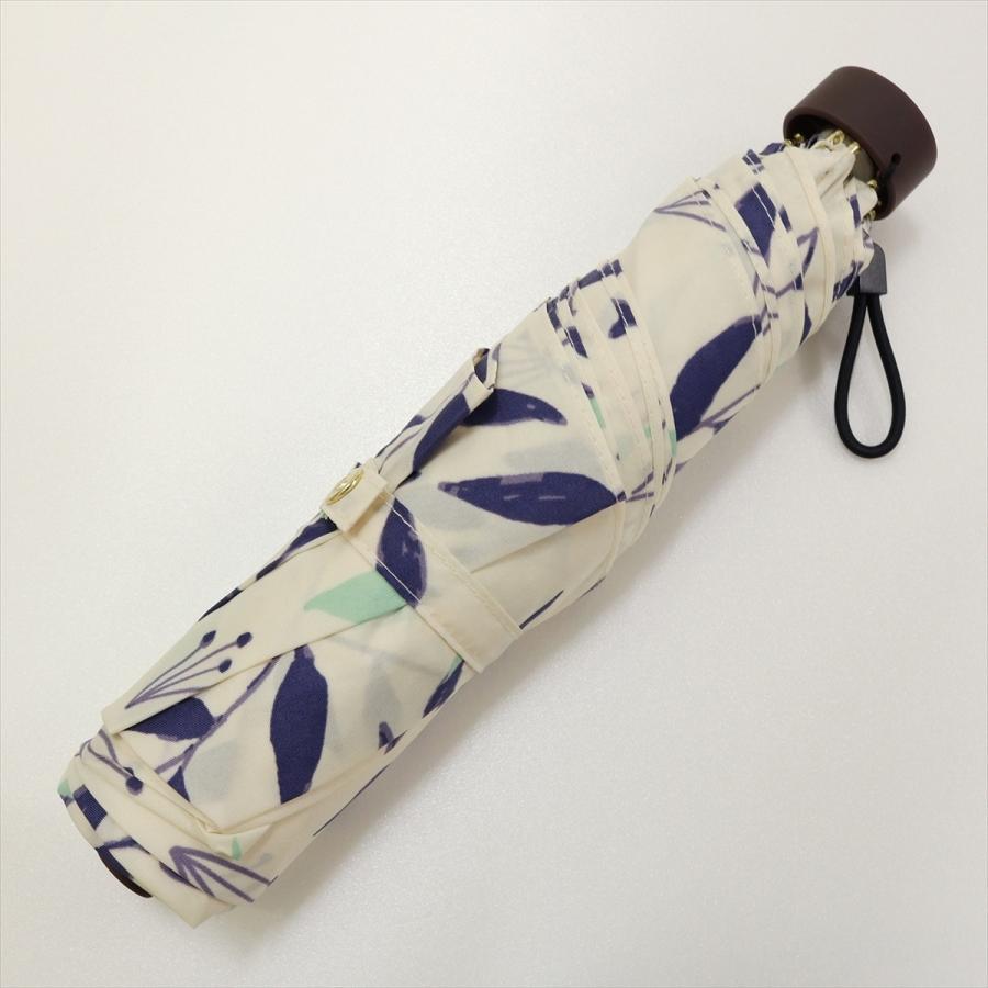傘 雨傘 レディース 折りたたみ傘 晴雨兼用 リーフ ナチュラル ボタニカル ニフティカラーズ|niftycolors|06