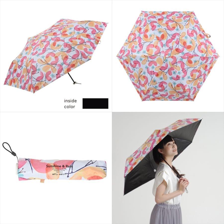 傘 雨傘 レディース 折りたたみ傘 軽量 大きめ 全天候 晴雨兼用 バタフライ ニフティカラーズ niftycolors