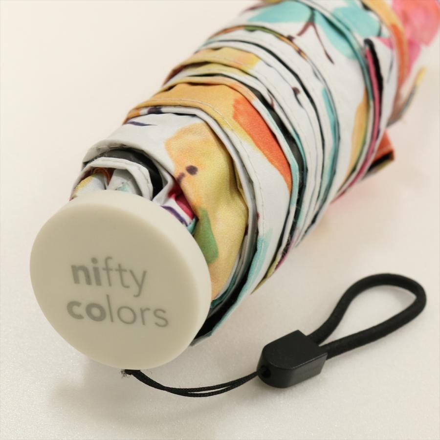 傘 雨傘 レディース 折りたたみ傘 軽量 大きめ 全天候 晴雨兼用 バタフライ ニフティカラーズ niftycolors 05
