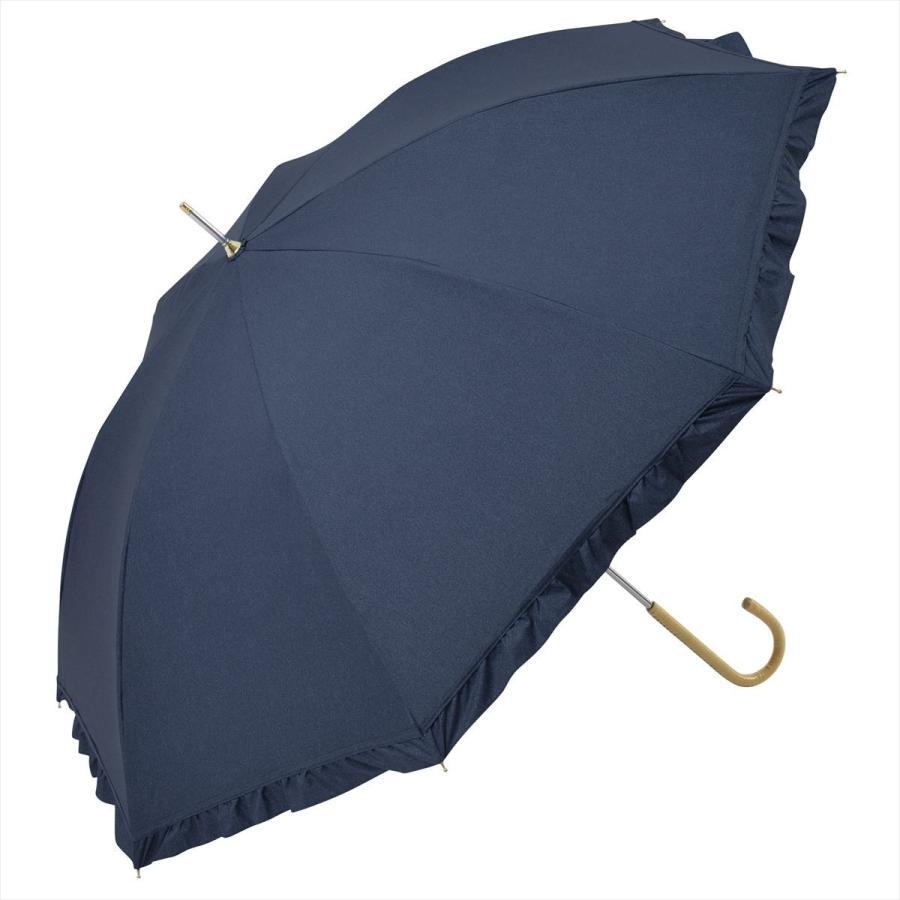 【公式】 晴雨兼用日傘 長傘 遮光 遮熱 UV加工 デニムプリント ネイビー ブルー niftycolors ニフティカラーズ|niftycolors|17