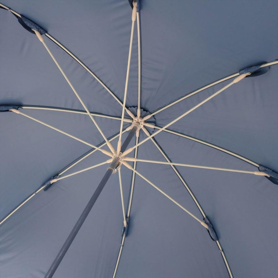 【公式】 晴雨兼用日傘 長傘 遮光 遮熱 UV加工 デニムプリント ネイビー ブルー niftycolors ニフティカラーズ|niftycolors|11