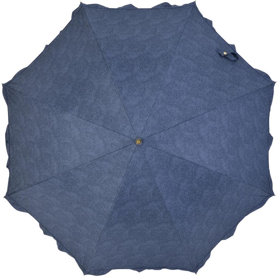 【公式】 晴雨兼用日傘 長傘 遮光 遮熱 UV加工 デニムプリント ネイビー ブルー niftycolors ニフティカラーズ|niftycolors|03