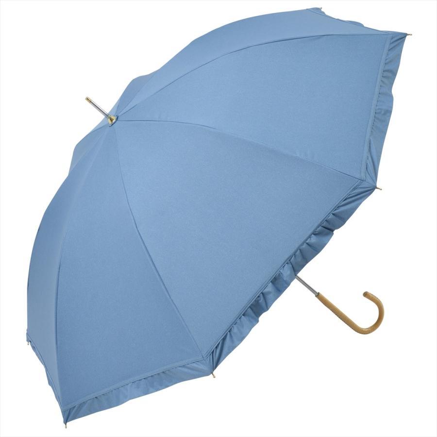 【公式】 晴雨兼用日傘 長傘 遮光 遮熱 UV加工 デニムプリント ネイビー ブルー niftycolors ニフティカラーズ|niftycolors|18