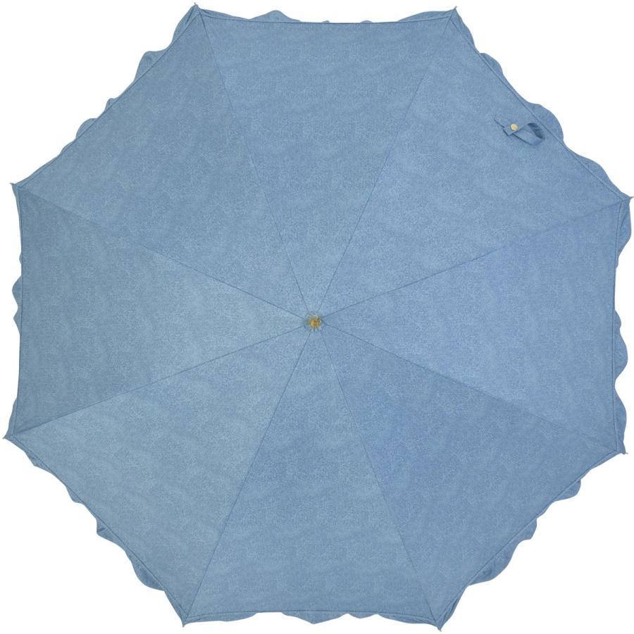 【公式】 晴雨兼用日傘 長傘 遮光 遮熱 UV加工 デニムプリント ネイビー ブルー niftycolors ニフティカラーズ|niftycolors|05