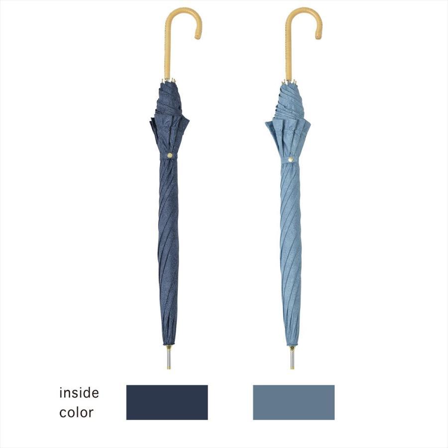 【公式】 晴雨兼用日傘 長傘 遮光 遮熱 UV加工 デニムプリント ネイビー ブルー niftycolors ニフティカラーズ|niftycolors|06