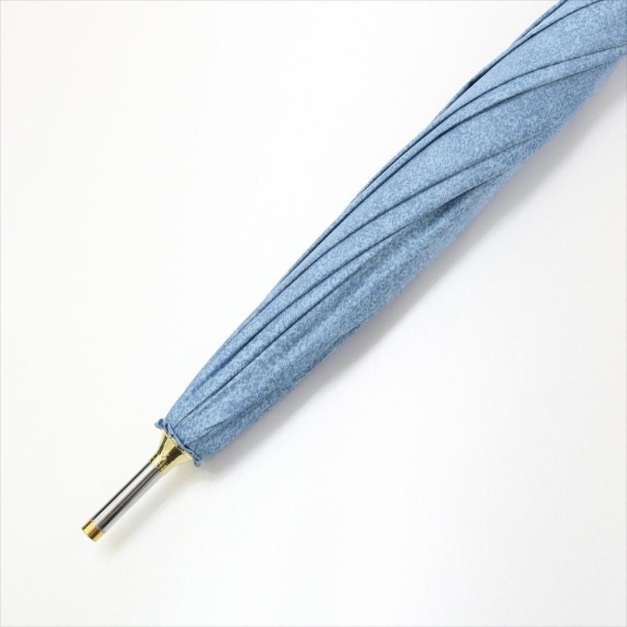 【公式】 晴雨兼用日傘 長傘 遮光 遮熱 UV加工 デニムプリント ネイビー ブルー niftycolors ニフティカラーズ|niftycolors|08