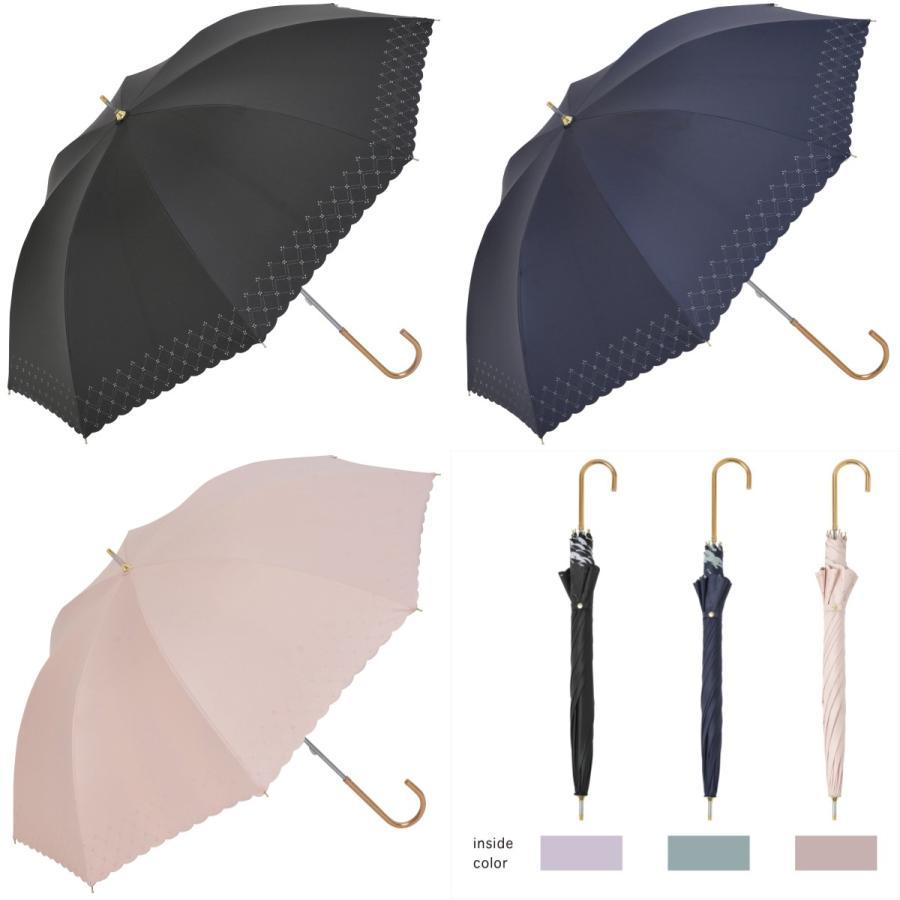 【公式】 日傘  遮光 レース 晴雨兼用 レディース 長傘 遮熱 PU加工 裏面カラー 99.9%カット ニフティカラーズ|niftycolors