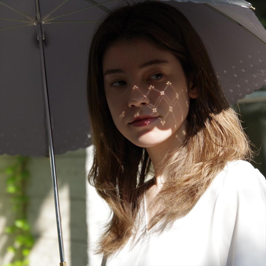 【公式】 日傘  遮光 レース 晴雨兼用 レディース 長傘 遮熱 PU加工 裏面カラー 99.9%カット ニフティカラーズ|niftycolors|11