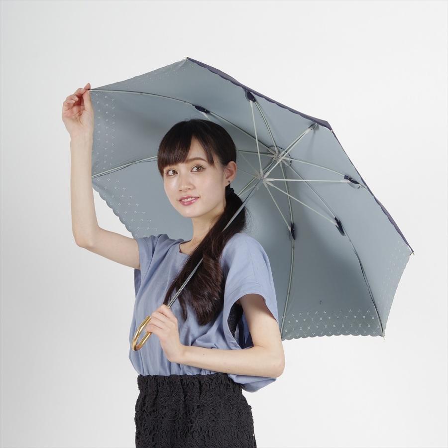 【公式】 日傘  遮光 レース 晴雨兼用 レディース 長傘 遮熱 PU加工 裏面カラー 99.9%カット ニフティカラーズ|niftycolors|12