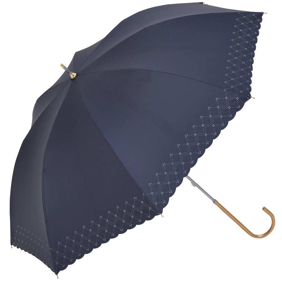 【公式】 日傘  遮光 レース 晴雨兼用 レディース 長傘 遮熱 PU加工 裏面カラー 99.9%カット ニフティカラーズ|niftycolors|18