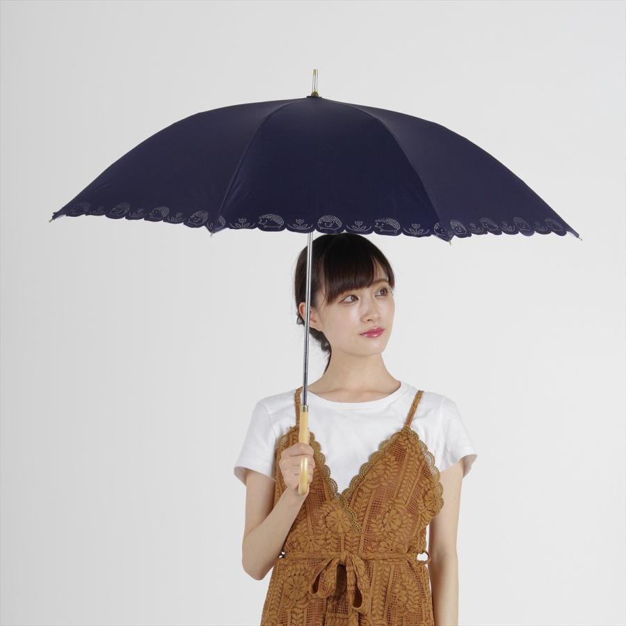 【公式】 日傘 遮光 はりねずみ 晴雨兼用 レディース 長傘 遮熱 PU加工 裏面カラー 99.9%カット ニフティカラーズ niftycolors 11
