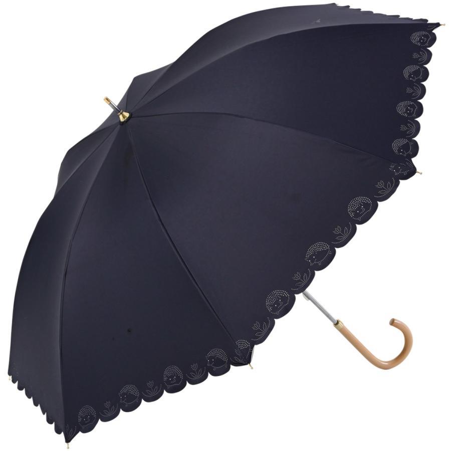 【公式】 日傘 遮光 はりねずみ 晴雨兼用 レディース 長傘 遮熱 PU加工 裏面カラー 99.9%カット ニフティカラーズ niftycolors 16
