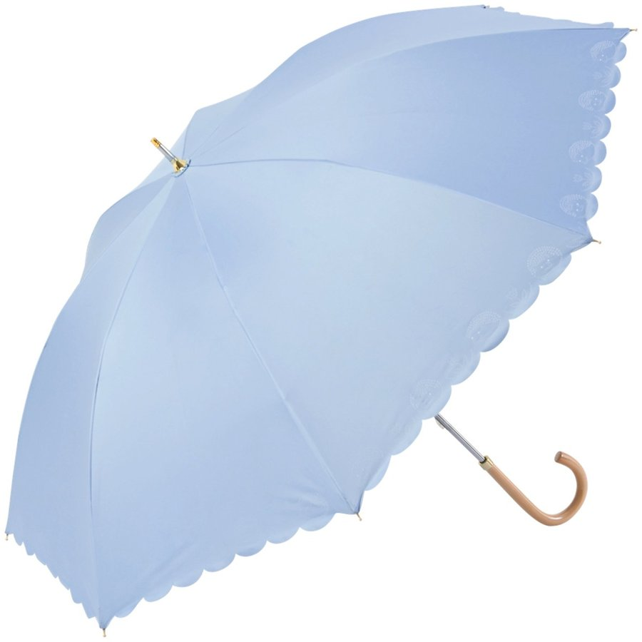 【公式】 日傘 遮光 はりねずみ 晴雨兼用 レディース 長傘 遮熱 PU加工 裏面カラー 99.9%カット ニフティカラーズ niftycolors 17