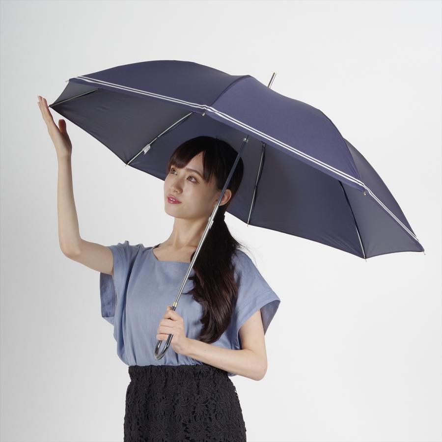 【公式】 日傘  遮光 セーラーボーダー  晴雨兼用  長傘 55cm 大きめ 遮熱 PU加工 99.9%カット ニフティカラーズ|niftycolors|10
