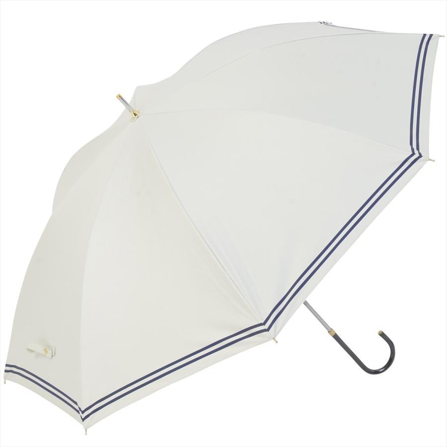 【公式】 日傘  遮光 セーラーボーダー  晴雨兼用  長傘 55cm 大きめ 遮熱 PU加工 99.9%カット ニフティカラーズ|niftycolors|03