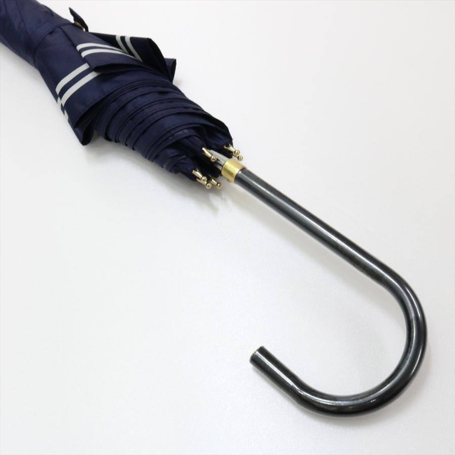 【公式】 日傘  遮光 セーラーボーダー  晴雨兼用  長傘 55cm 大きめ 遮熱 PU加工 99.9%カット ニフティカラーズ|niftycolors|05
