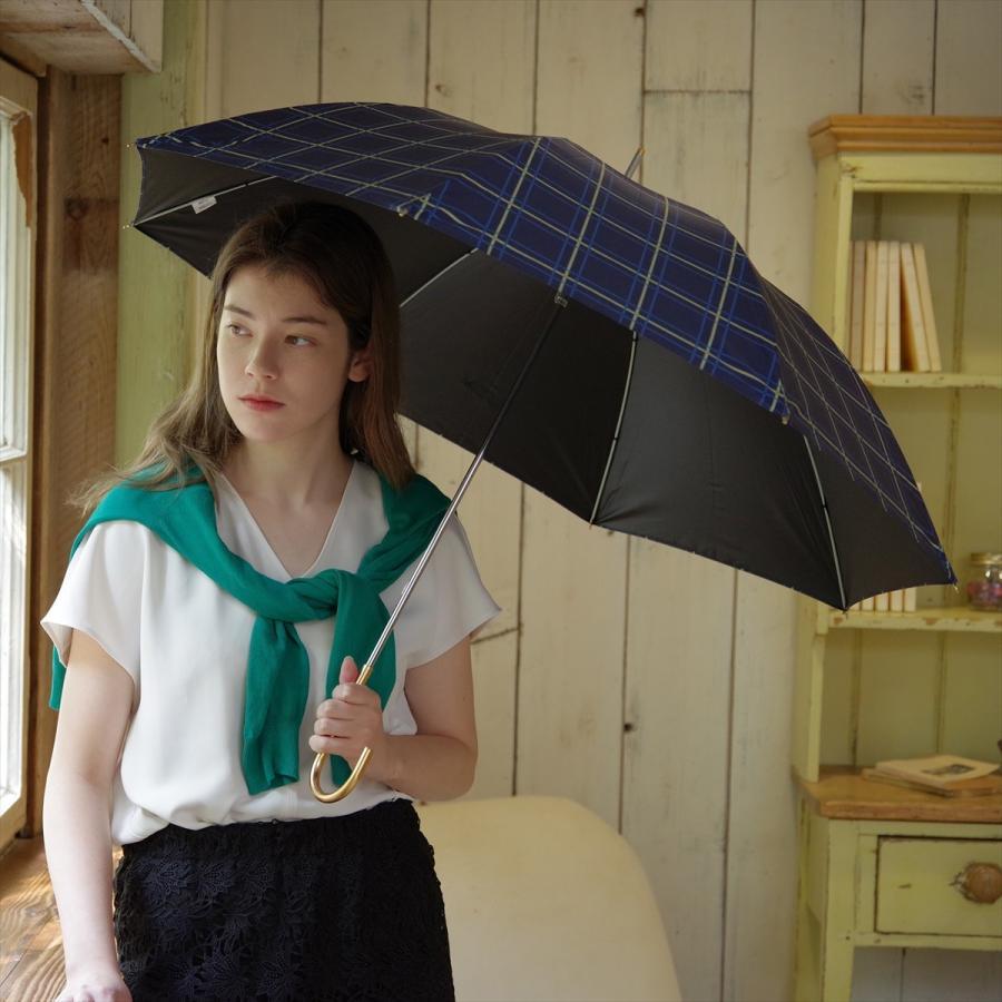 【公式】  日傘 遮光 チェック 晴雨兼用 レディース 長傘 55cm 大きめ 遮熱 PU加工 99.9%カット ニフティカラーズ|niftycolors|10
