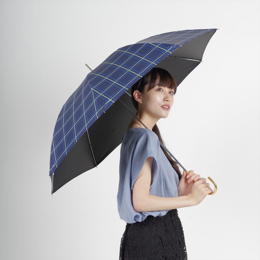 【公式】  日傘 遮光 チェック 晴雨兼用 レディース 長傘 55cm 大きめ 遮熱 PU加工 99.9%カット ニフティカラーズ|niftycolors|11