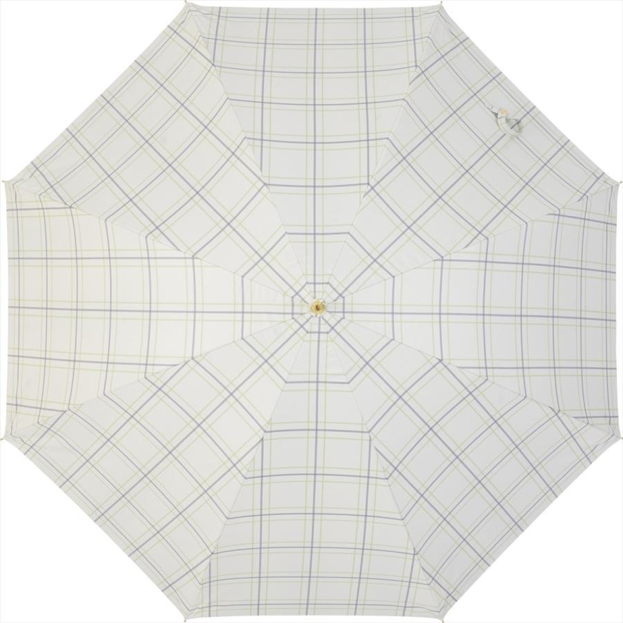 【公式】  日傘 遮光 チェック 晴雨兼用 レディース 長傘 55cm 大きめ 遮熱 PU加工 99.9%カット ニフティカラーズ|niftycolors|03