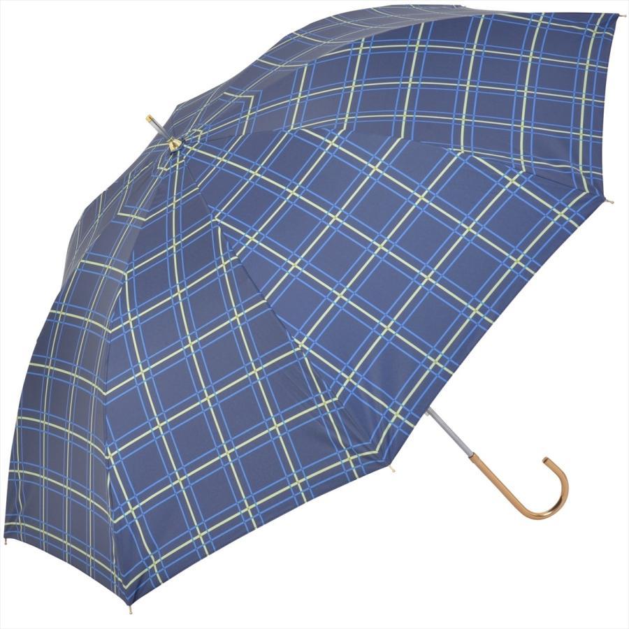 【公式】  日傘 遮光 チェック 晴雨兼用 レディース 長傘 55cm 大きめ 遮熱 PU加工 99.9%カット ニフティカラーズ|niftycolors|15
