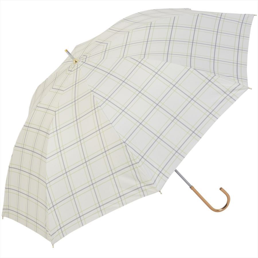 【公式】  日傘 遮光 チェック 晴雨兼用 レディース 長傘 55cm 大きめ 遮熱 PU加工 99.9%カット ニフティカラーズ|niftycolors|16