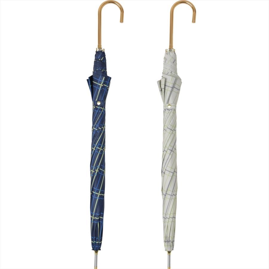 【公式】  日傘 遮光 チェック 晴雨兼用 レディース 長傘 55cm 大きめ 遮熱 PU加工 99.9%カット ニフティカラーズ|niftycolors|04
