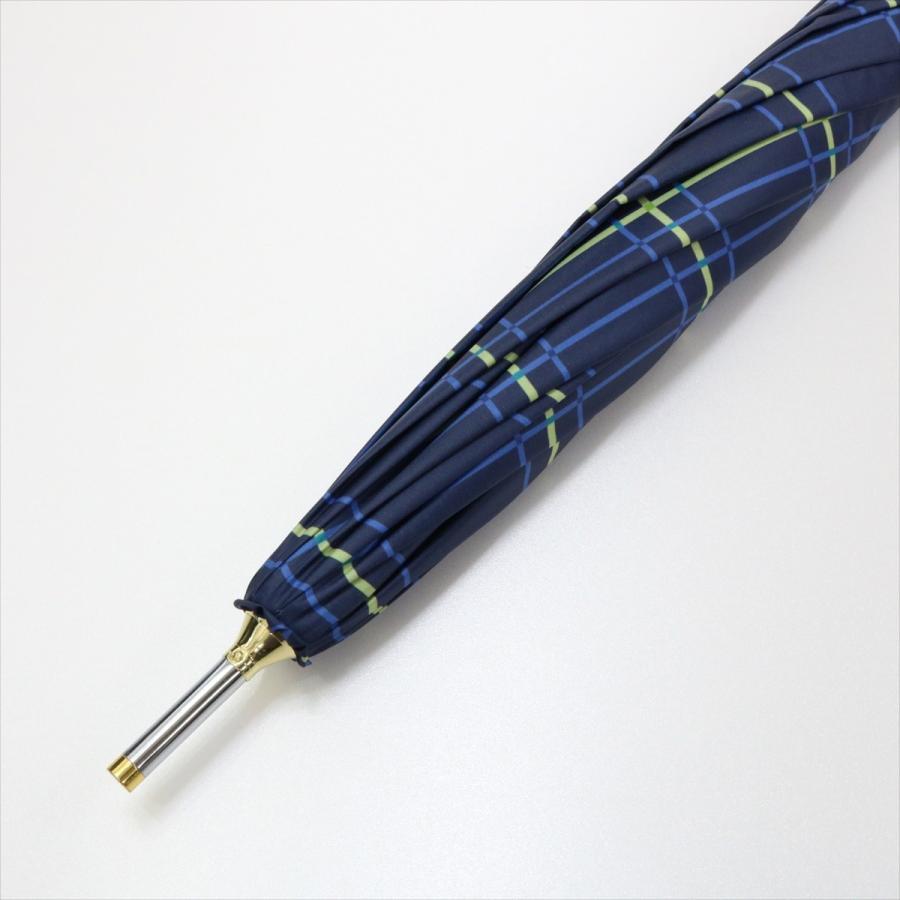 【公式】  日傘 遮光 チェック 晴雨兼用 レディース 長傘 55cm 大きめ 遮熱 PU加工 99.9%カット ニフティカラーズ|niftycolors|05
