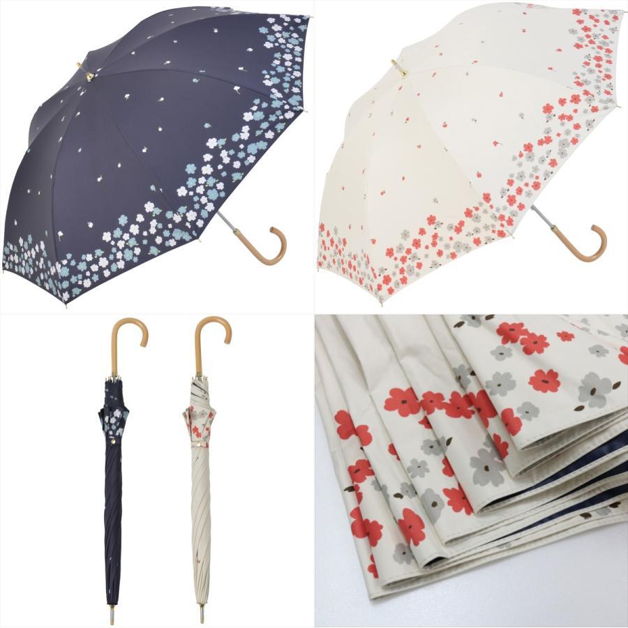 【公式】  日傘 遮光 フラワー ガーデン 花柄 晴雨兼用  長傘 遮熱 PU加工 99.9%カット ニフティカラーズ|niftycolors