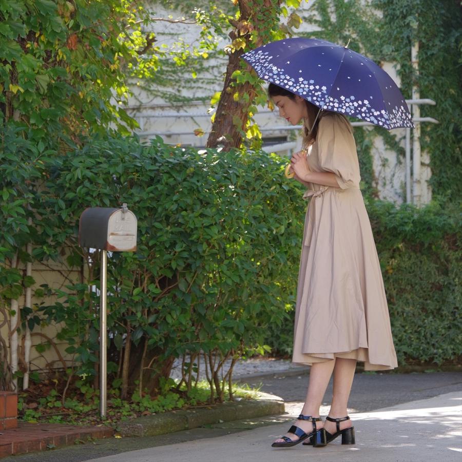 【公式】  日傘 遮光 フラワー ガーデン 花柄 晴雨兼用  長傘 遮熱 PU加工 99.9%カット ニフティカラーズ|niftycolors|10