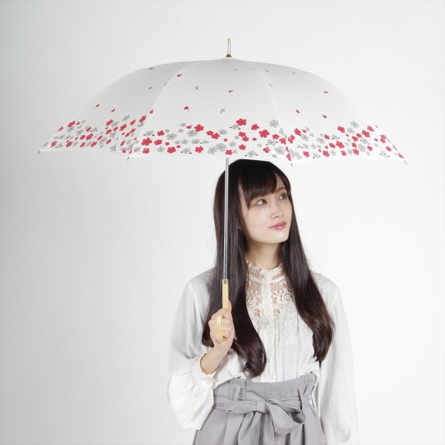 【公式】  日傘 遮光 フラワー ガーデン 花柄 晴雨兼用  長傘 遮熱 PU加工 99.9%カット ニフティカラーズ|niftycolors|11
